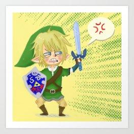 Zelda- Hyrule fool Art Print