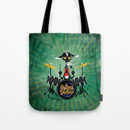 The Goat - Drums. The Twitch Doctors Tote Bag