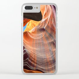 Geology Alive - Time Passage of Upper Antelope Canyon Clear iPhone Case