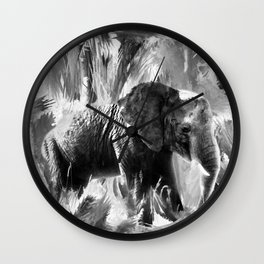 African Elephant - Peaches Wall Clock