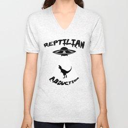 Reptilian Abduction Unisex V-Neck