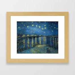 Starry Night Over the Rhône Framed Art Print