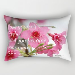 Love Yourself Be your BFF Rectangular Pillow