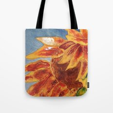 Turns to the wind sunflower | Tourne-au-vent Tote Bag