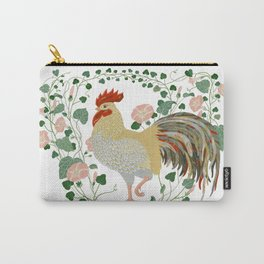 Rooster and morning glory Carry-All Pouch