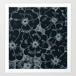 Dark Fall Floral Art Print