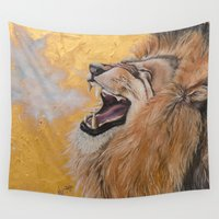 fierce Wall Tapestries featuring Fierce by NicoleFaye