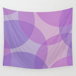 Purple Geometric Circles Wall Tapestry