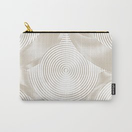 Optical Illusion I - Get Lost (Gold on White) Carry-All Pouch