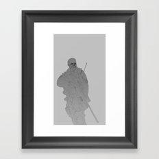 Zombie Sniped Framed Art Print