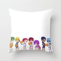 kuroko Throw Pillows featuring Kuroko no Basket by Jackce