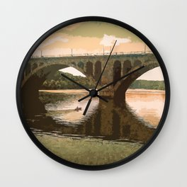 Georgetown Bridge Washington DC USA Wall Clock