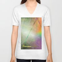 prism V-neck T-shirts featuring Prism by Randomleafy
