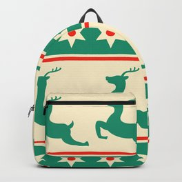 Reindeer Pattern Deer Xmas Decoration Backpack