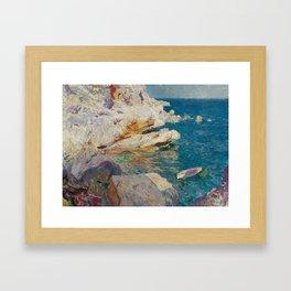 Joaquin Sorolla y Bastida, Rocks of Javea, 1905 Framed Art Print