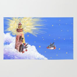 Lighthouse Guides Penguin Home Rug