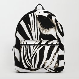 Zebra-Black and White Backpack