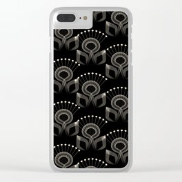 Art Deco 34 . The bird's tail . Clear iPhone Case