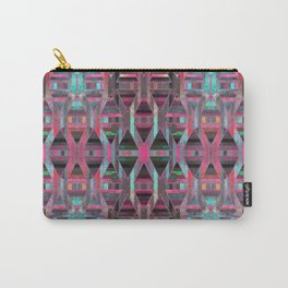 Geometric Wood Pattern G404 Carry-All Pouch