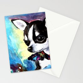Little Dog Space Portrait 1 Stationery Cards