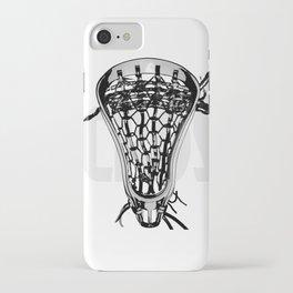 Lacrosse Negative iPhone Case