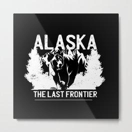 Alaska Bear Design Metal Print