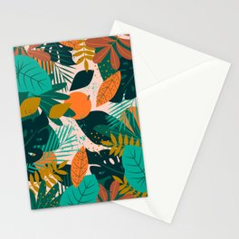 fall flowers  autumn orages  Stationery Cards