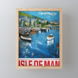 altes Plakat Isle of Man Framed Mini Art Print