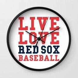 Boston Baseball Love Wall Clock