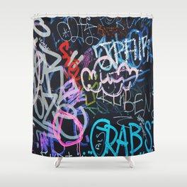 Graffiti Writing Shower Curtain