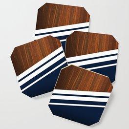 Wooden Navy Coaster