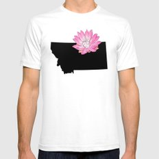 Montana Silhouette White SMALL Mens Fitted Tee