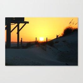 Emerald Isle Sunset Canvas Print