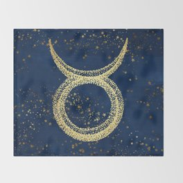 Taurus Zodiac Sign Throw Blanket
