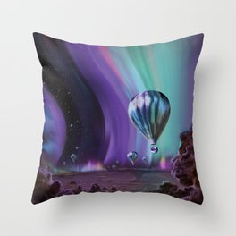 Visions of the Future: The Mighty Jupiter Throw Pillow