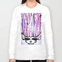 grateful dead Long Sleeve T-shirts featuring One of a Kind Grateful Dead Head Painting  by VibrationsArt