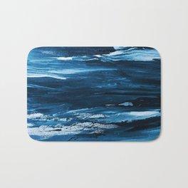 Blue Brush Strokes (Color) Bath Mat