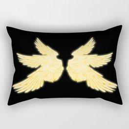 Light Gold Archangel Wings Rectangular Pillow