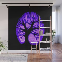 Happy HaLLoWeen. Brain Tree : Purple Wall Mural