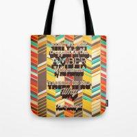 vonnegut Tote Bags featuring Vonnegut by nicole martinez