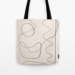 Abstract Line III Tote Bag