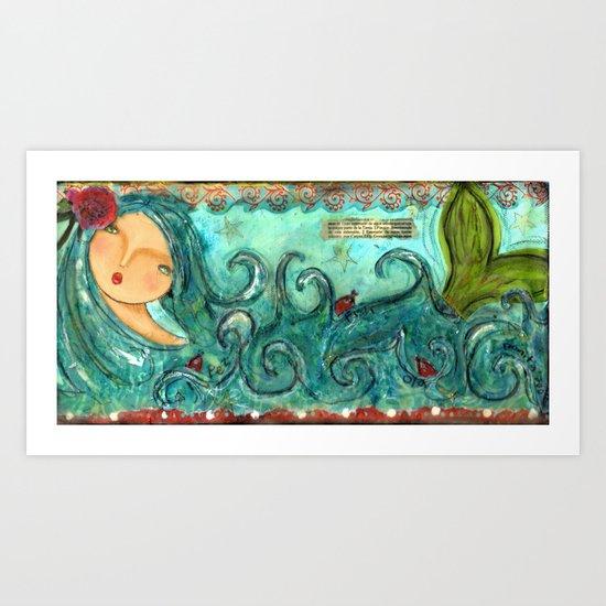 Isabella The Sea Mermaid Art Print