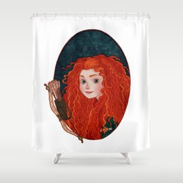 Merida from Brave Shower Curtain
