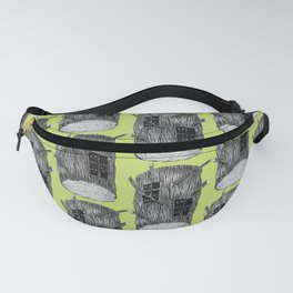 Mysterious Forest Creatures In Tree Log Fanny Pack
