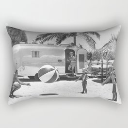 Family Holiday In The Airstream Rectangular Pillow