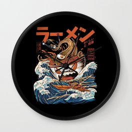 The black Great Ramen Wall Clock