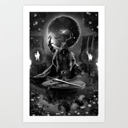 I. The Magician Tarot Card Illustration Art Print