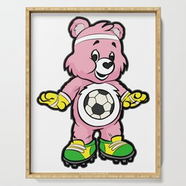 SOCCER Player TEDDY Bear Son Daughter Pit Cleats Serving Tray
