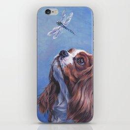 Beautiful Blenheim Cavalier King Charles Spaniel Dog Painting by L.A.Shepard iPhone Skin