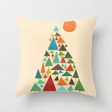 The house at the pine forest Throw Pillow